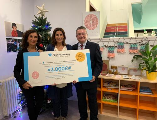 Neuraxpharm dona 3.000 euros a la Fundación Querer por la campaña 'Un beso por la Salud Mental'